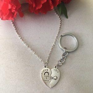 Jewelry - KEY to my HEART SET. (Necklace & keychain)